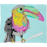 Casey Rogers Toucan Fleece Throw Blanket