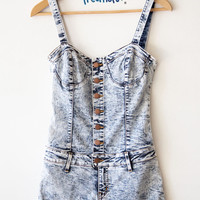 TORI ACID WASHED ROMPER