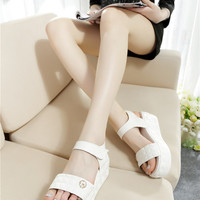 White/Pink Leather Sandals,Shoes woman,Sandals,Women sandal,shoes,women shoes,Gladiator sandals women,Wedges,Platform sandals,sandals