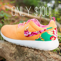 Women's Custom Floral Nike Roshe Runs