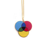 CMYK Enamel Necklace - plastique*