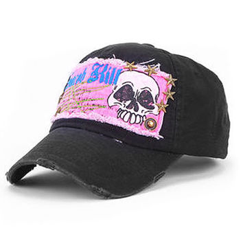 New Fashion Skull Girls Baseball Hat Sun Hat Adjustable Hip-Hop Cap Trucker Hat