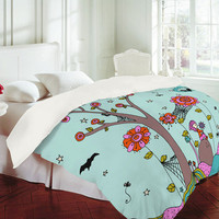 DENY Designs Home Accessories | Rebekah Ginda Design Spiderwebs Bright Duvet Cover