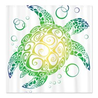 CafePress Sea Turtle Shower Curtain