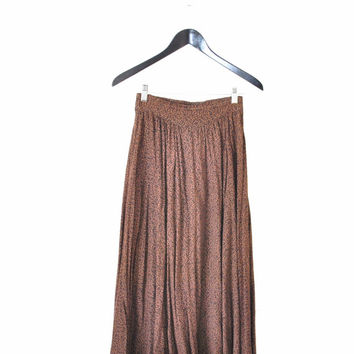 high waisted animal print rayon midi skirt small
