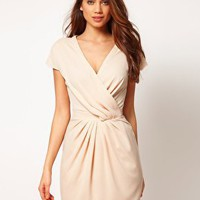 ASOS | ASOS Wrap Dress with Fitted Waist at ASOS