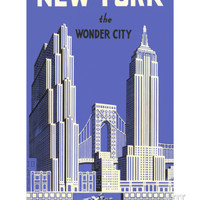 New York, the Wonder City Premium Poster at Art.com