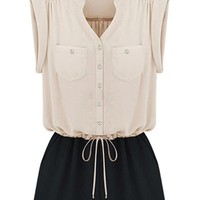 Cool Contrast Rompers - OASAP.com