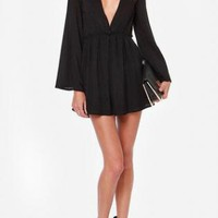 Bell Sleeves Dress - Black