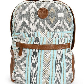 Billabong Campin Trot Mint Tribal Print Backpack