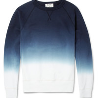 Acne Studios - College Dip-Dye Loopback Cotton-Jersey Sweatshirt | MR PORTER