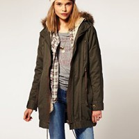ASOS | ASOS Parka With Detachable Faux Fur Lining at ASOS