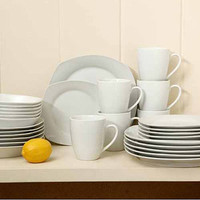 Walmart: Gibson Home Liberty Hill Porcelain 30-Piece Square Dinnerware Set
