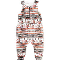 Kardashian Kids Girls Tribal Printed Sleeveless Coverall