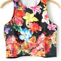 Sexy Floral Cropped Tank - OASAP.com
