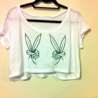 Daze of Peace Loose Crop Top by OfIvy on Etsy