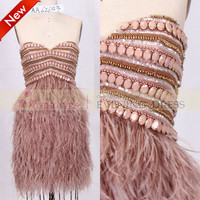 Alibaba Evening Dress Beaded Nude Short Feather Cocktail Dresses 2014 | Feather Beaded Dress, View short feather cocktail dresses, Choiyes Cocktail Dress Product Details from Chaozhou Choiyes Evening Dress Co., Ltd. on Alibaba.com