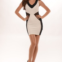 Hour Glass Mesh Dress - Black
