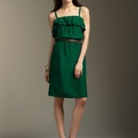 Apparel Classic Clothing at Talbots - Washed silk ruffle dress