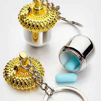 FredFlare.com - Nut Case Keychain - Keychain Pill Case