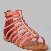 BRIELA GLADIATOR SANDAL IN CORAL