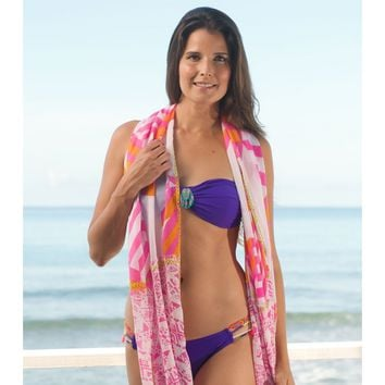 Aspiga | Luxury Beaded Purple Two-Piece Bikini by Hipanema