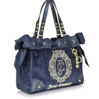 Juicy Couture Ornate Monogram Velour Daydreamer Tote