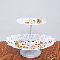Two Tier Cut Lace Jewellery Stand - Urban Outfitters