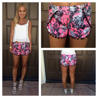 Elisa Graphic Print Shorts
