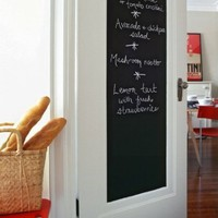 Fancy-Fix Vinyl Blackboard Home Sticker Removable Wall Decal Chalkboard Stickers with 5 Free Chalks