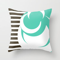 Lines & Dots Throw Pillow by Timothy Davis