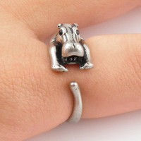 Vintage Hippo Wrap Ring | KejaJewelry - Jewelry on ArtFire
