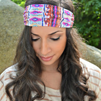 Bohemian hair wrap, turban headband - head wrap - hippie - boho