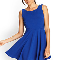 Scoop Back Skater Dress