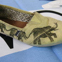 Elephant TOMS Shoes by themattbutler on Etsy