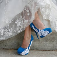 Turquoise Wedding Heel 