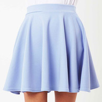 Lilliam Skater Pastel Flippy Skirt in Blue