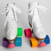 Colorblock Rainbow Roller Skates
