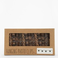 Clothespin Photo Clip String Set - Black One