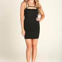 Black Strappy Cut Out Dress