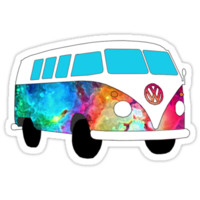 VW Rainbow Hippie Bus!