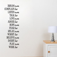 Dream more Believe more  vinyl wall quote by daydreamerdesign