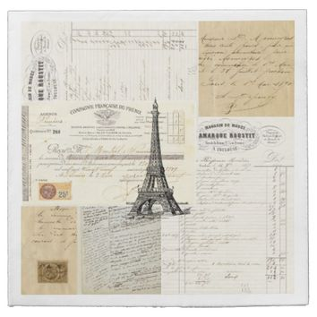 Paris Vintage French Ephemera Napkins