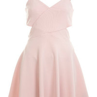 Petites Cut Out Skater Dress - Skater Dresses - Dress Shop - Miss Selfridge