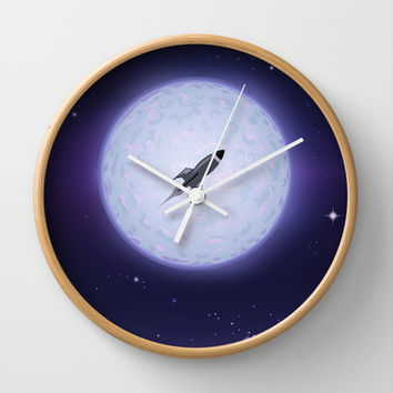 Retro Voyages Wall Clock by Texnotropio