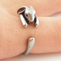 Vintage-Silver Bunny Wrap Ring | KejaJewelry - Jewelry on ArtFire