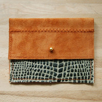 CLUTCH // small suede leather clutch 01 by BlackbirdAndTheOwl