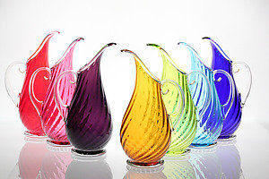 Roxy Pitcher: Cal Breed: Art Glass Pitcher - Artful Home