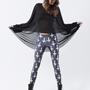 Cross of St Peter Black Leggings | Black Milk Clothing