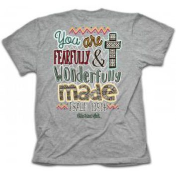 Cherished Girl Fearfully and Wonderfully Made Christian T-Shirt